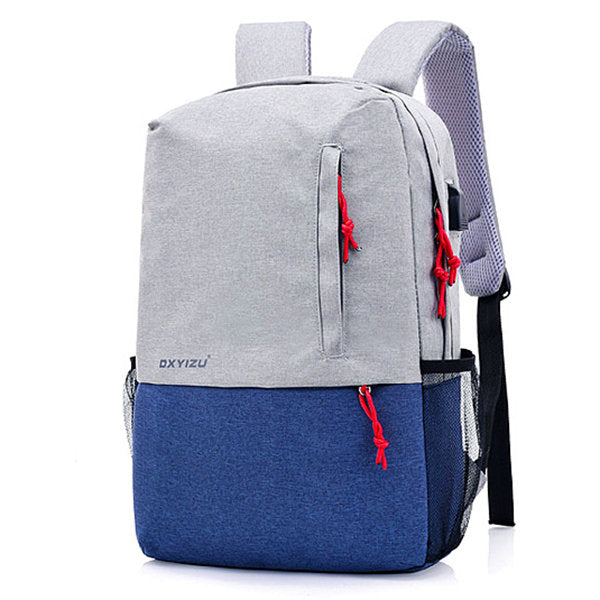 Sail Linen Shoulder Bag Computer Bag Large Capacity Waterproof Travel Backpack USB Interface Charging