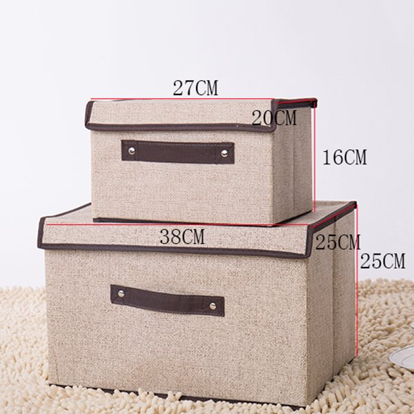Set of Two Foldable Storage Bins Baskets Bedroom Toys Clothes Office Organizer(Buy 1 Get 2nd More 20% OFF; Buy 2 Get 3rd more 30% OFF)