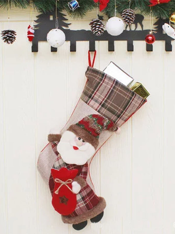 Christmas socks decorative pendant gift bag