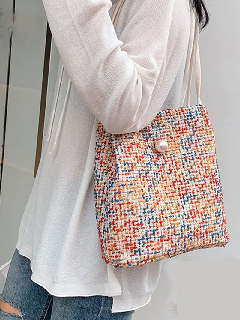 Cotton Magnetic Shoulder Bags