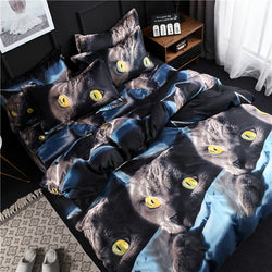New Design 3D Cat Printing Bedclothes Bedding Decor Winter Comfortable Bedding Sets