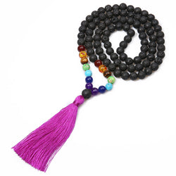 Tassel Beaded Boho Vintage Tribal Long Necklace