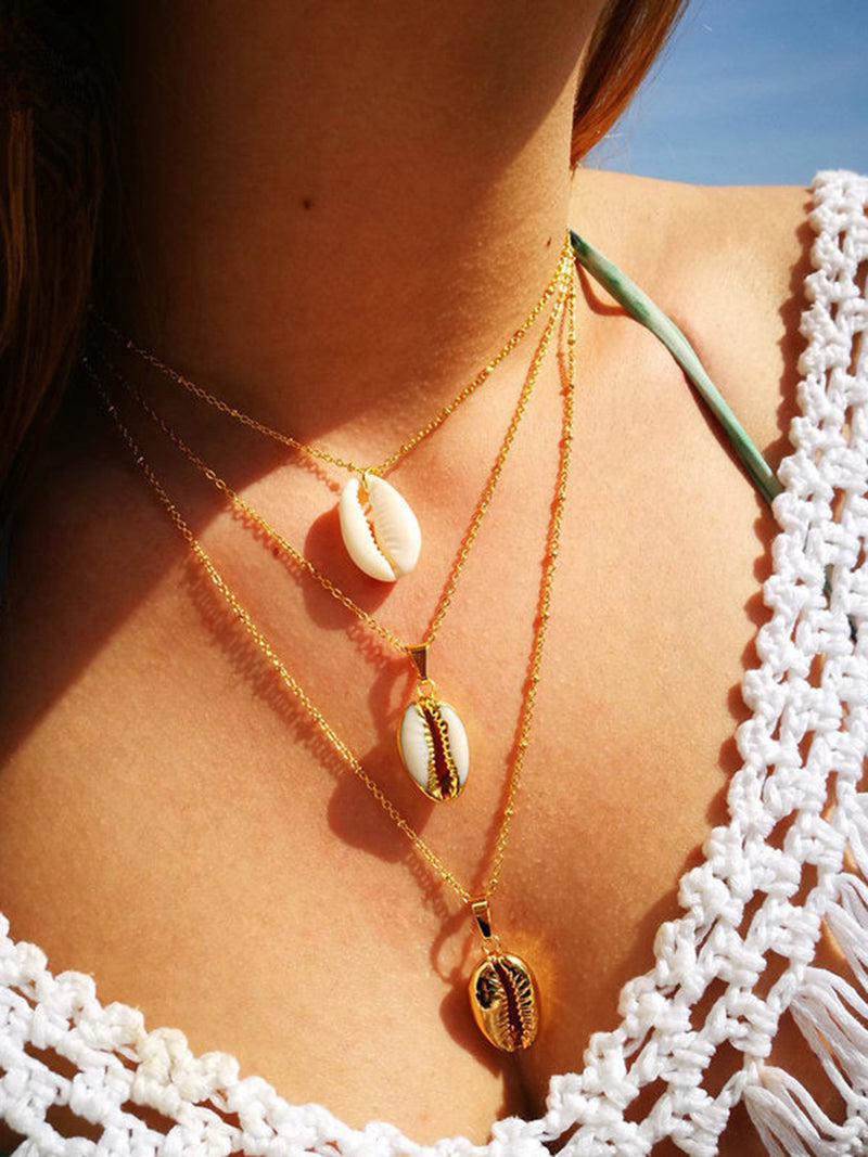 Shell Necklace Popular Alloy Pendant Women Necklace