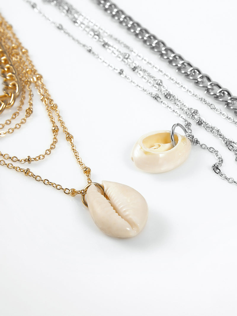 Women Multi-layer 3 Choices Shell Necklaces