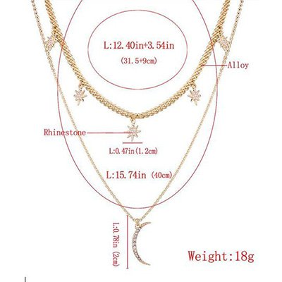 Golden Alloy Casual Vintage Holiday Daily Necklace