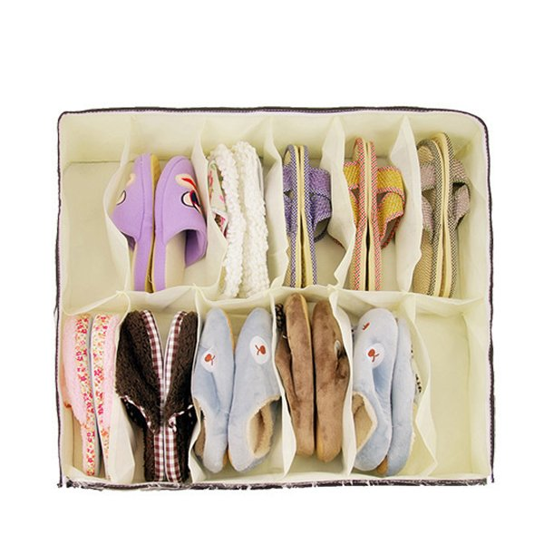 12 Pairs Under Bed Socks Shoes Solution Shoes Storage
