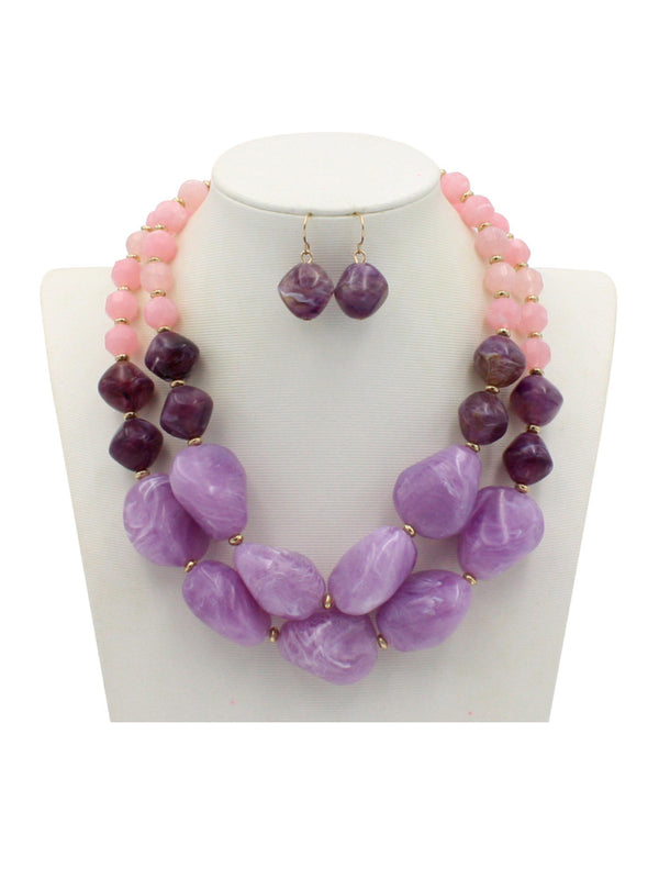 Alloy Colored Statement Rhinestone Necklace