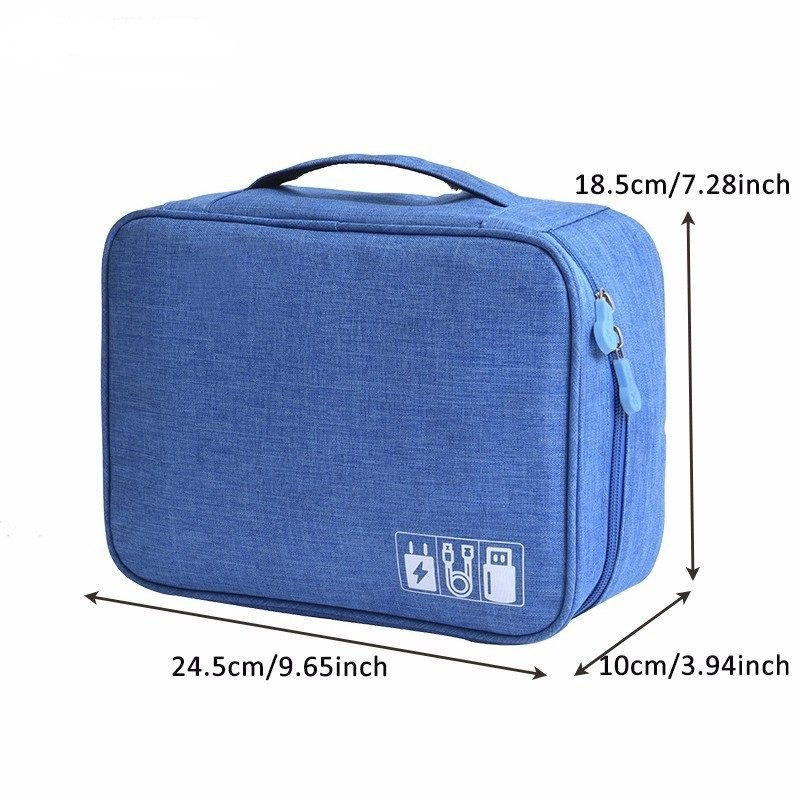 Data Cable Storage Bag Digital Power Charger U Disk Multi-function Travel Portable Storage Bag
