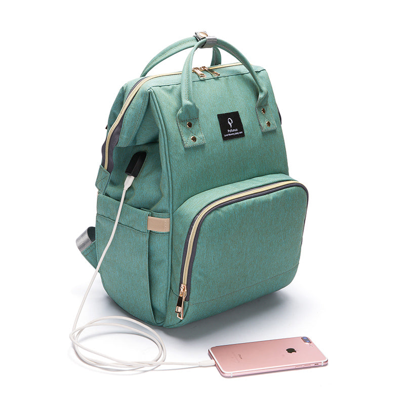 USB Charging Port Large Capacity Oxford Casual Mommy Portable Backpack Multifunctional Bag