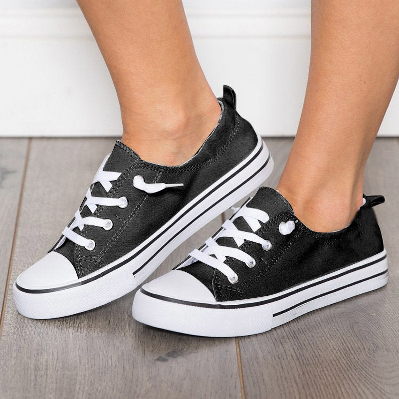 Women Canvas Sneakers Casual Comfort Plus Size Shoes
