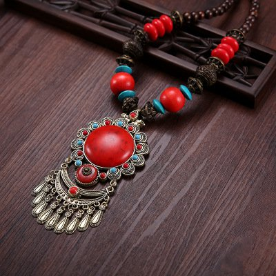 Alloy Vintage Boho Tribal  Beads Daily Necklaces