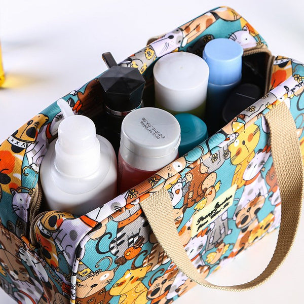 Waterproof Portable Wash Bag Travel Admission Package Cartoon Makeup Storage Bag