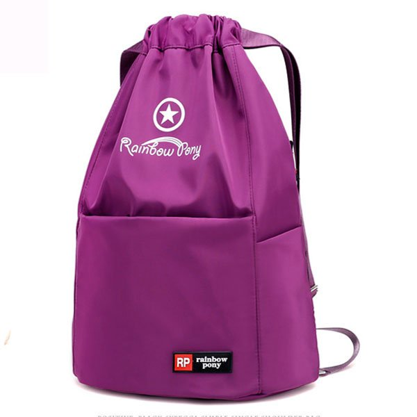 Women Nylon Backpack Casual String Students Bags Fitness Bag