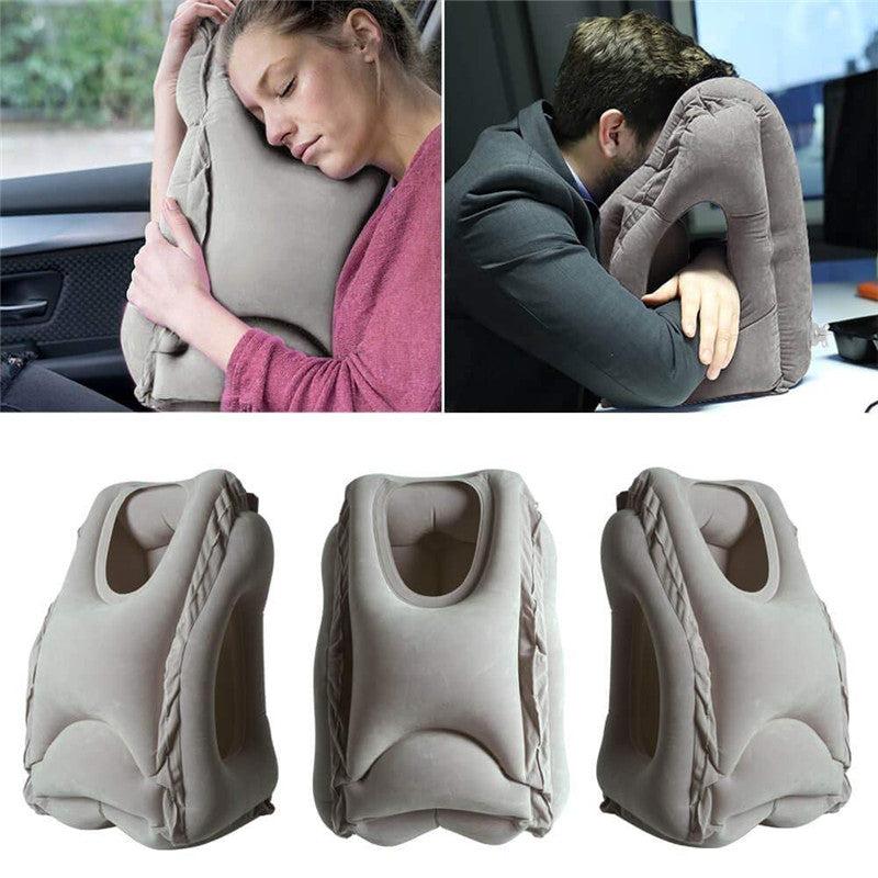 Inflatable Travel Head Neck Back Lumbar Support Pillow