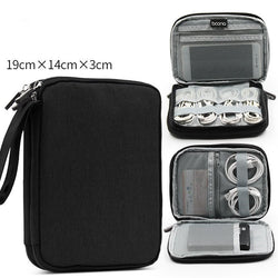 Universal Cable Digital Electronics Organizer Accessories Case USB Storage Bag Tool Case Travel Bag