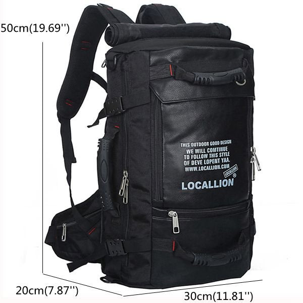 45L Men Large Capacity Backpack Casual Travel Outdoor Bags Rucksack Climbing Bag