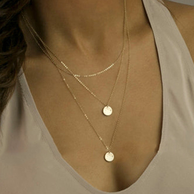 Golden Alloy Elegant Daily Necklace