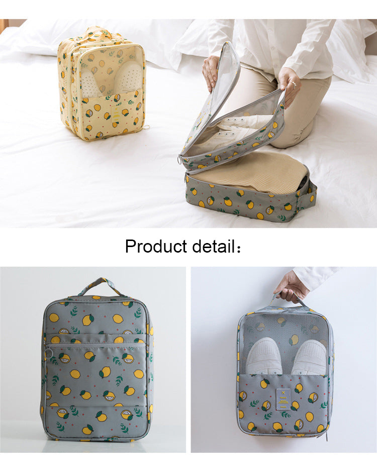 Travel Shoes Bag Practical Portable Waterproof Shoes Bag Double Layer Shoes Storage Bag