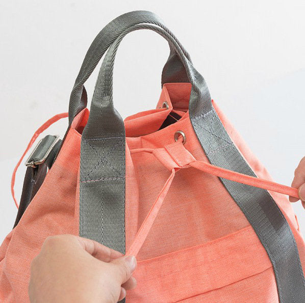 High Quality Travel Backpack Drawstring Portable Large Capacity Cationic Waterproof Handbag