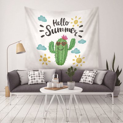 150*130/200*150 cm Cactus Pattern Wall Hanging Tapestries Home Decor