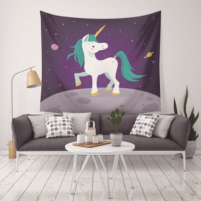 Unicorn Style Polyester Wall Hanging Tapestry Home Decor
