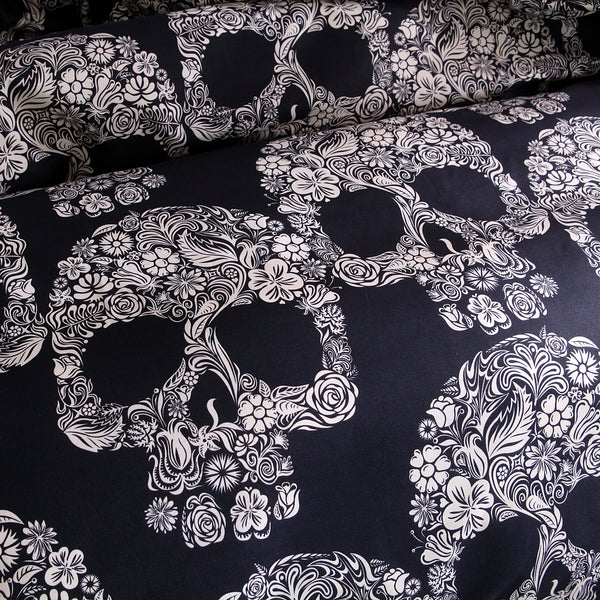 Bedding Sets Skull Print Bedding Three-piece Suit