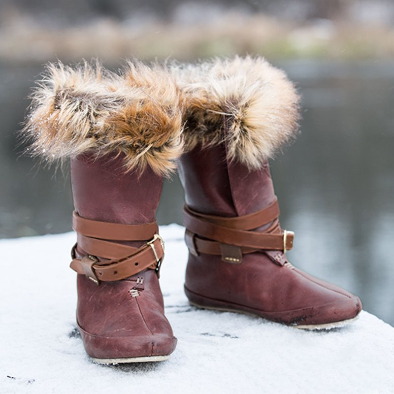 European and American large size casual vintage fur boots