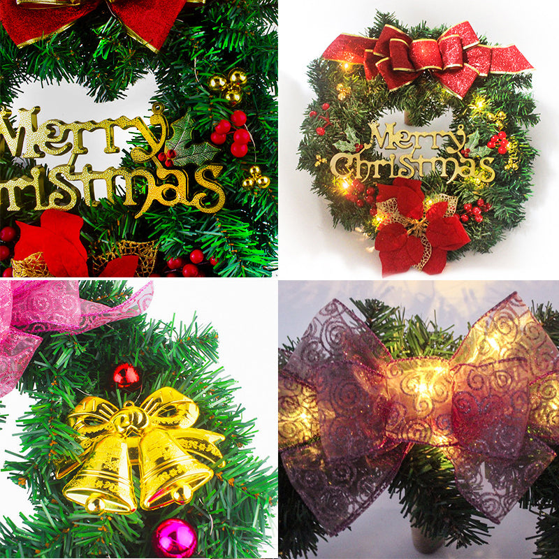 "20""Christmas PVC Striped Garland Wall Pendant Mall Hotel Bar School Christmas Decoration Christmas Wreath"