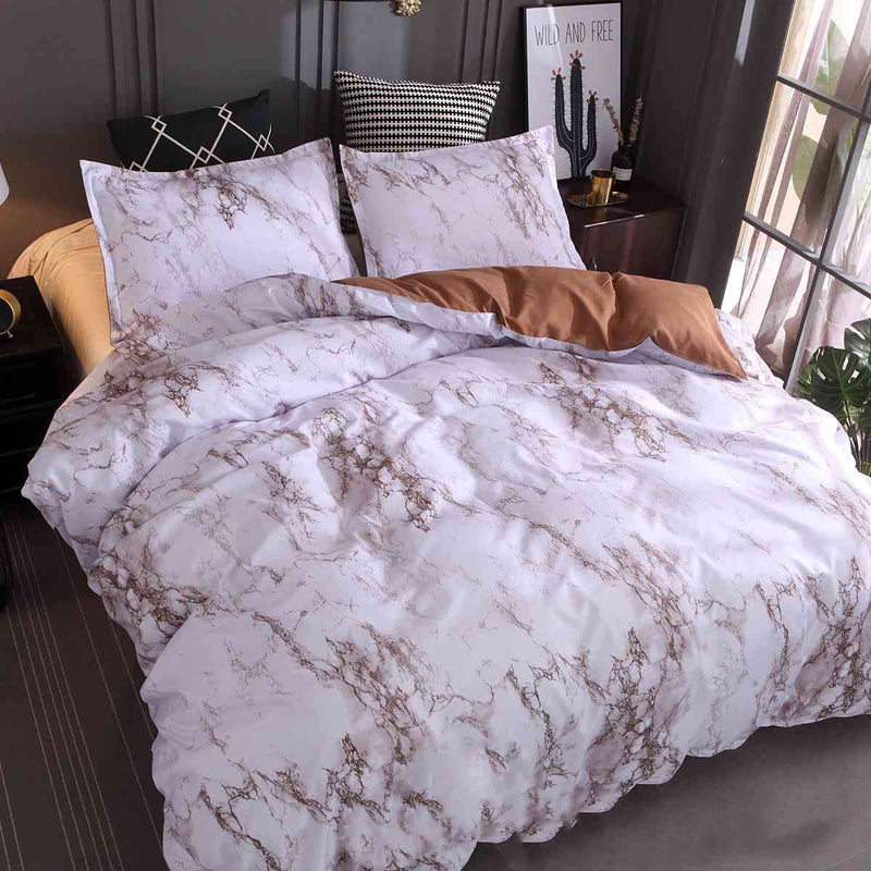Bedding Sets Stone Pattern Simple Plain Quilt Cover Pillowcase Bedding Three-piece Suit
