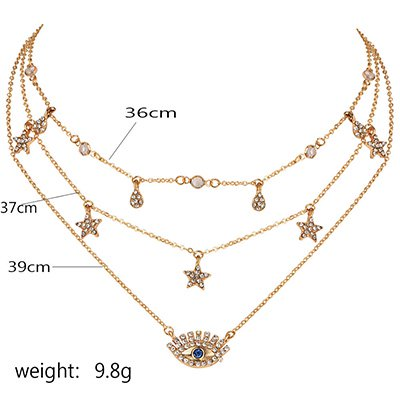 Golden Vintage Daily Elegant Holiday Beach Alloy Necklace