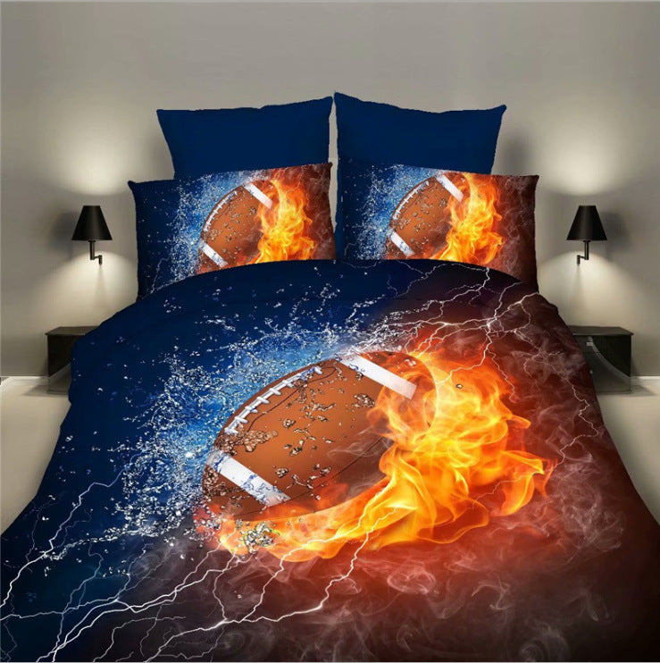 Bedding SetsSports Department Basketball Football Quilt Covered Bedding Three-piece Suit