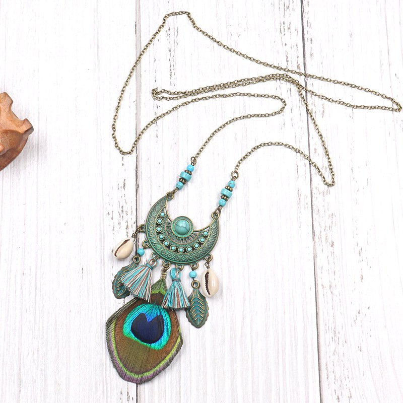 Green Vintage Alloy Necklace