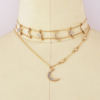 Golden Elegant Vintage HOliday Daily Alloy Necklaces