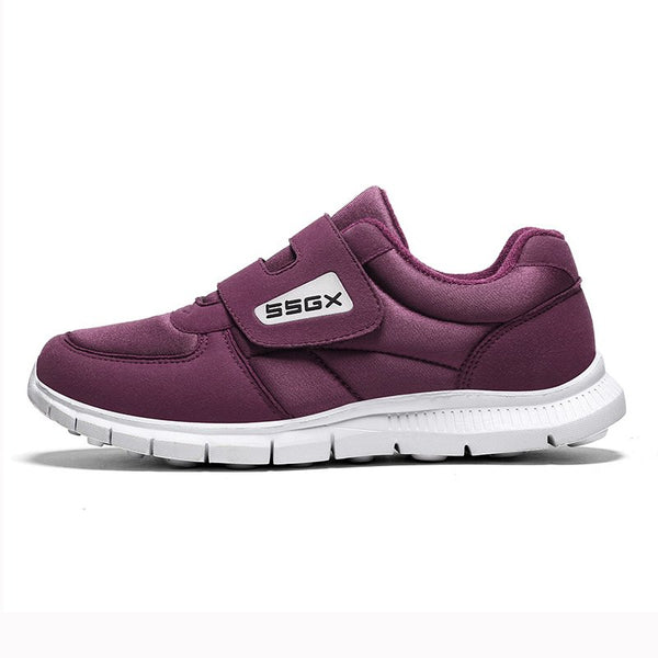 Women Casual Breathable Sneakers Athletic Magic Tape Shoes