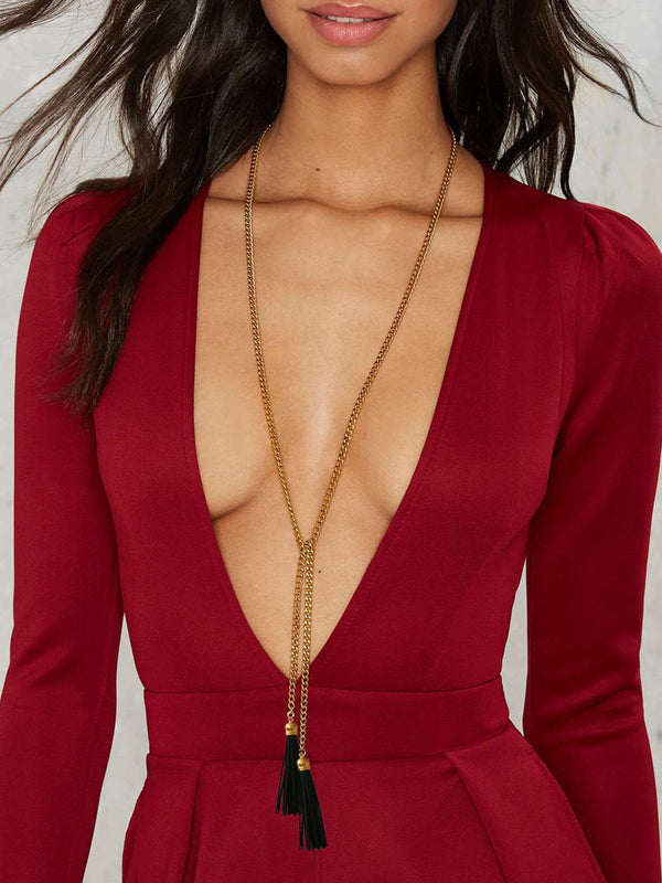 Hot Selling Womens Long Tassel Necklaces