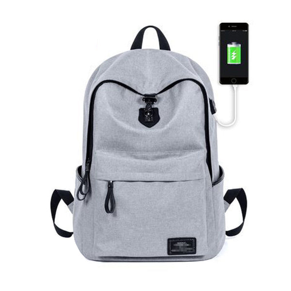 Zipper Oxford Backpack