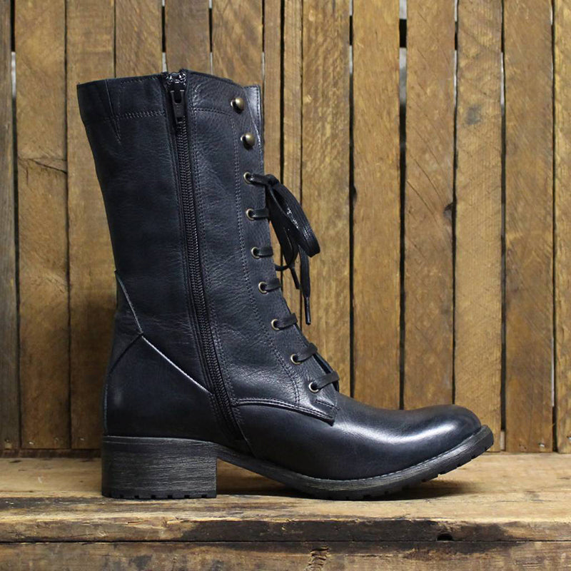 Women Vintage Leather  Martin Boot Shoes