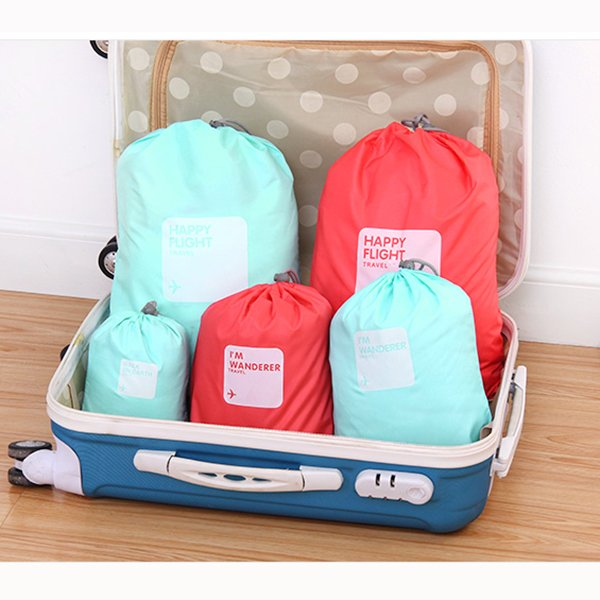 4PCS Casual Nylon Waterproof Beam Port Storage Bag Clothes Shoes Cosmetic Bag Travel Bag