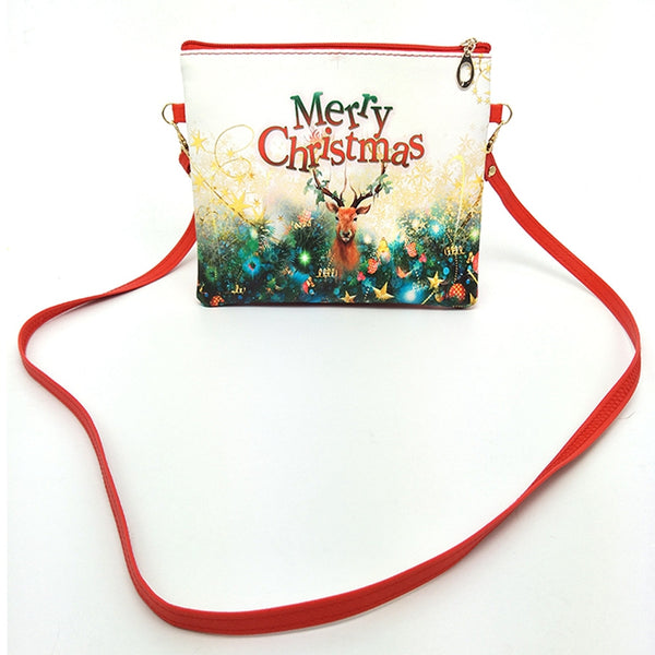 Christmas Cartoon Elk Snowman Mini Crossbody Shoulder Bags
