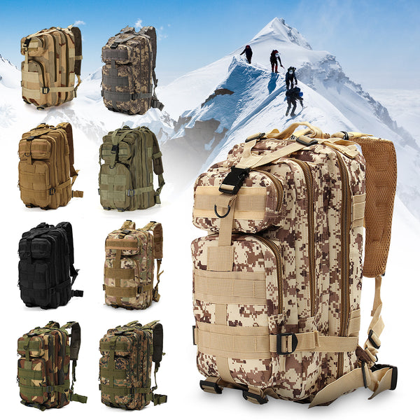 30L Outdoor Tactical Backpack 600D Nylon Waterproof Camouflage Trekking Rucksack