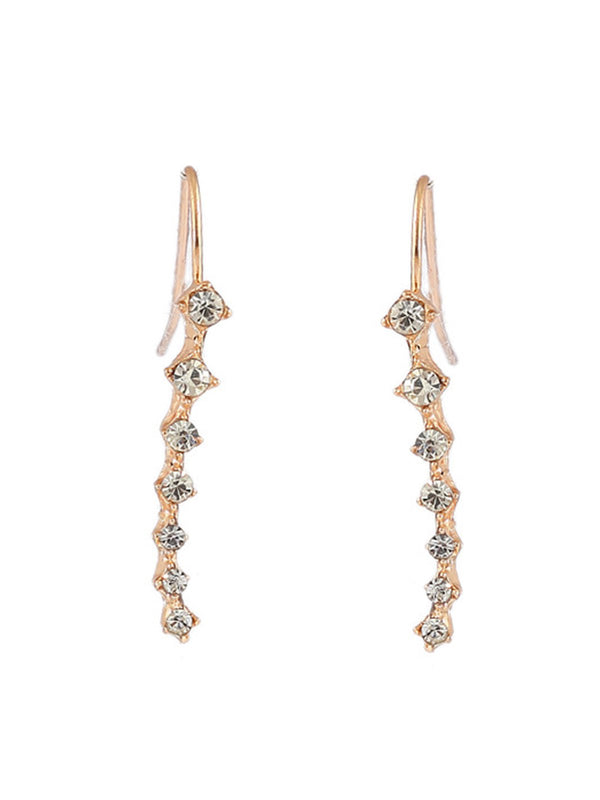 Girls Seven Diamonds Long Earrings