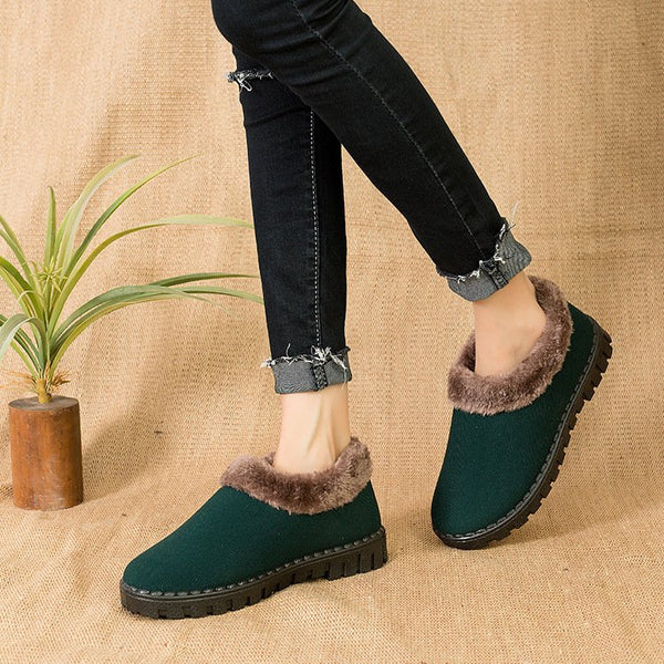 Women Winter Slip-On Casual Cotton Boots