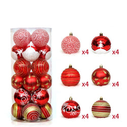 24pcs Christmas Ball Ornaments Shatterproof Christmas Decorations Tree Balls for Holiday Wedding Party Decoration