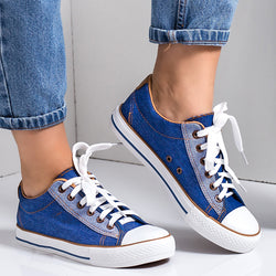 Women All Season Lace-Up Sneakers Sports Trainers