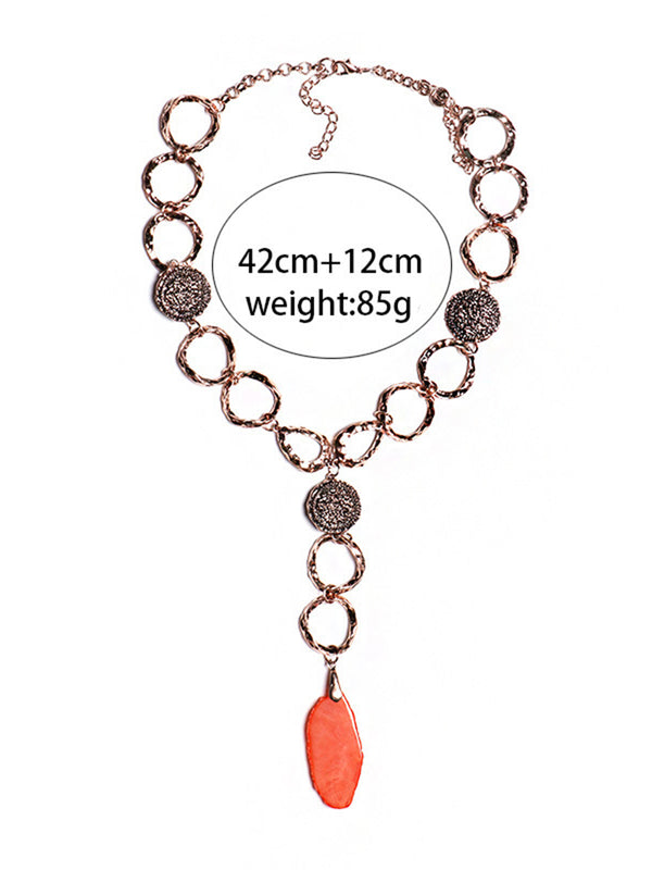 Alloy Rhinestone Statement Necklace