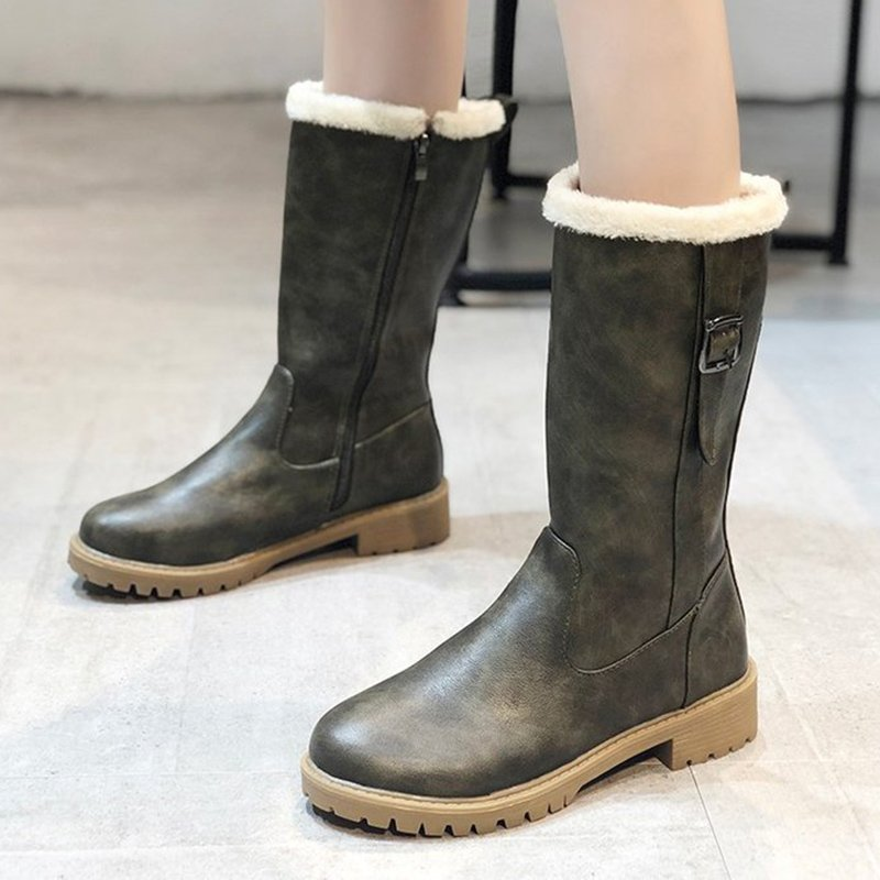 Fall Low Heel Daily Pu Boots