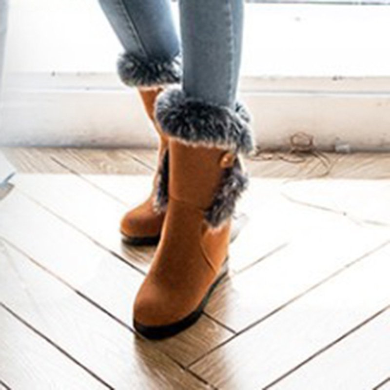 Lace-Up Wedge Heel Boots