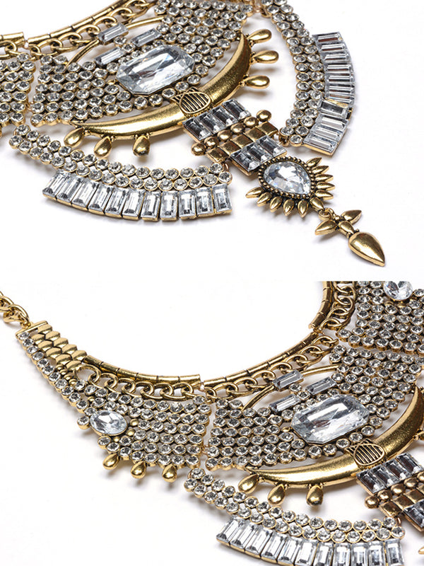 Alloy Artificial Diamond Women Elegant Vintage Necklace