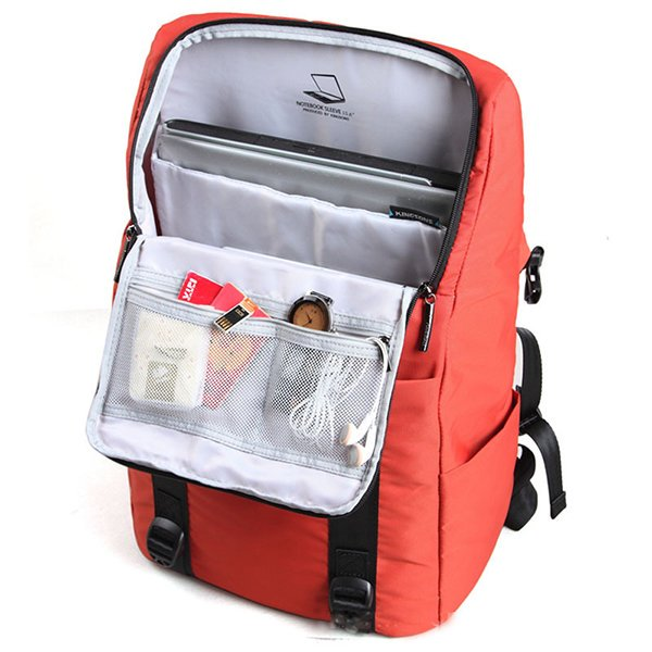 KINGSONS Water Resistant Nylon Casual Travel Bag Backpack For Men Women