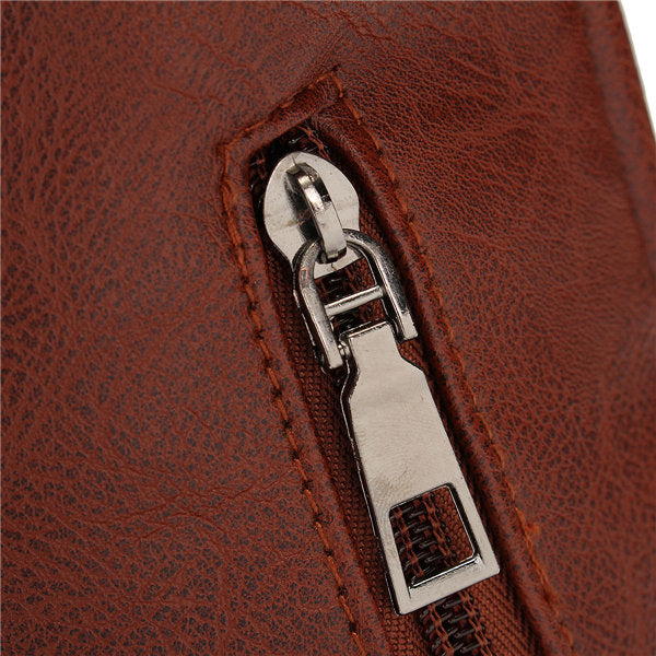 Men Women Vintage Backpack PU Leather Laptop bags School Bag Shoulder Bags
